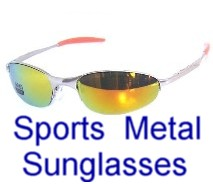 Metal Frame Sports Sunglasses