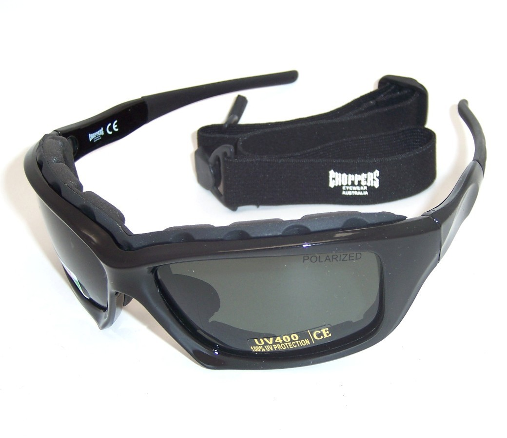 Foam Padded Motorcycle Choppers Polarized Goggle Sunglasses 8968-PL